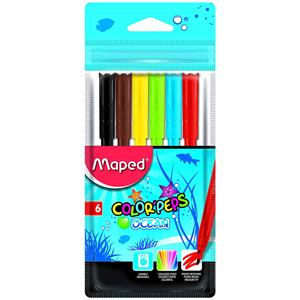 Maped Color'Peps Ocean 6'lı Keçeli Kalem 845723