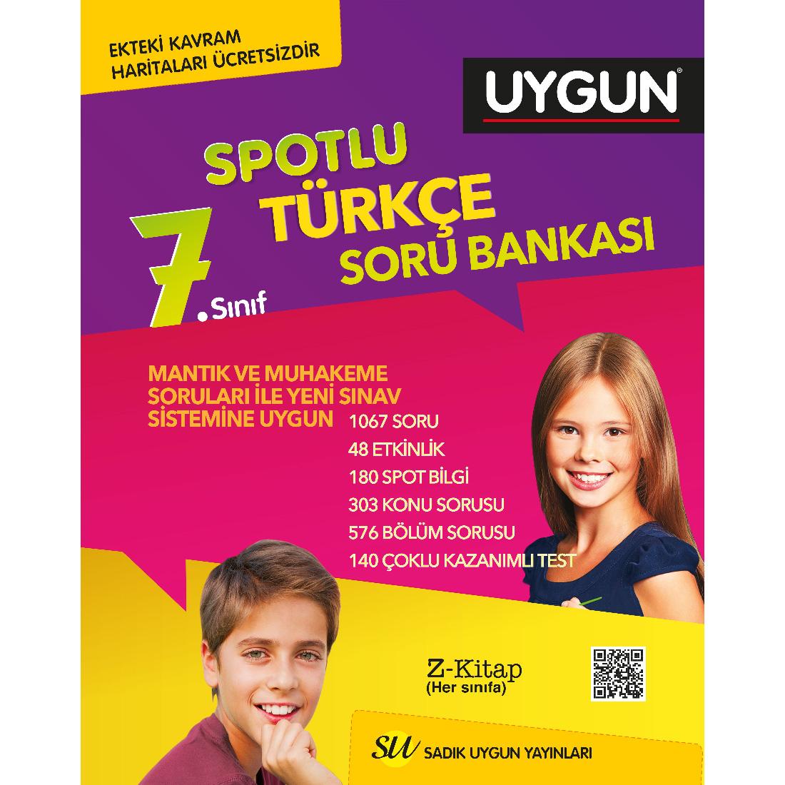 7.Sınıf Spotlu Türkçe + Kavram Haritası Sadık Uygun Yayınları