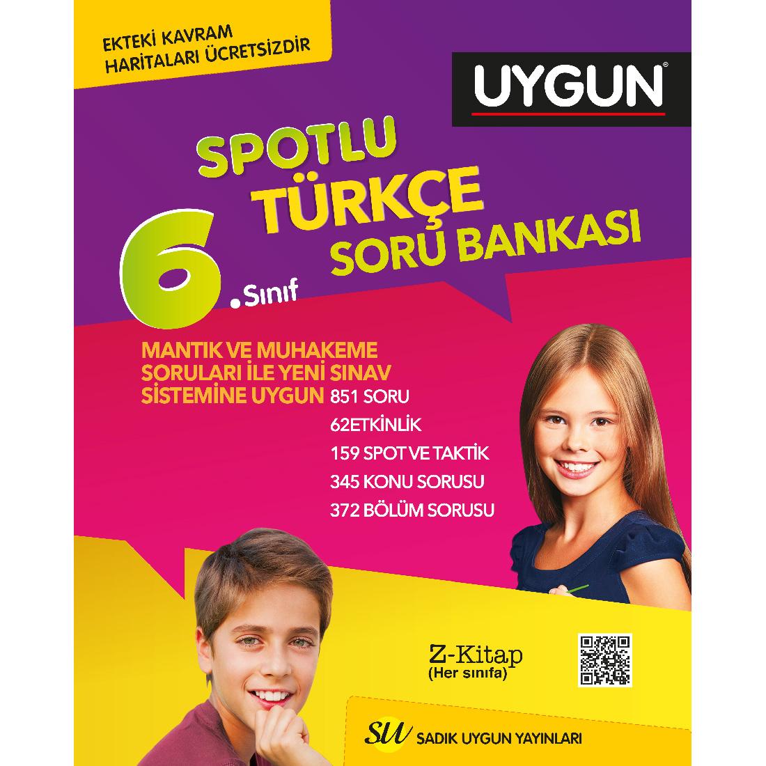 6.Sınıf Spotlu Türkçe + Kavram Haritası Sadık Uygun Yayınları