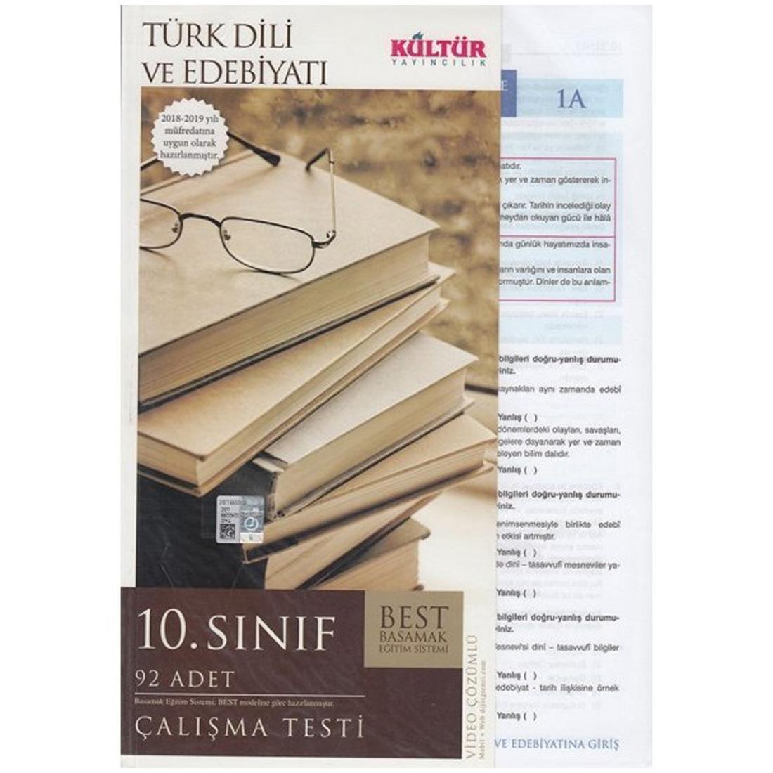 Kultur Yayinlari 10 Sinif Turk Dili Ve Edebiyati Best Calisma