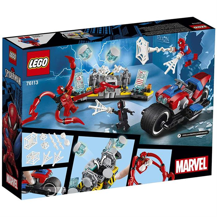 Lego Super Heroes Spiderman Bike Resc 76113 Yardimci Kitaplar