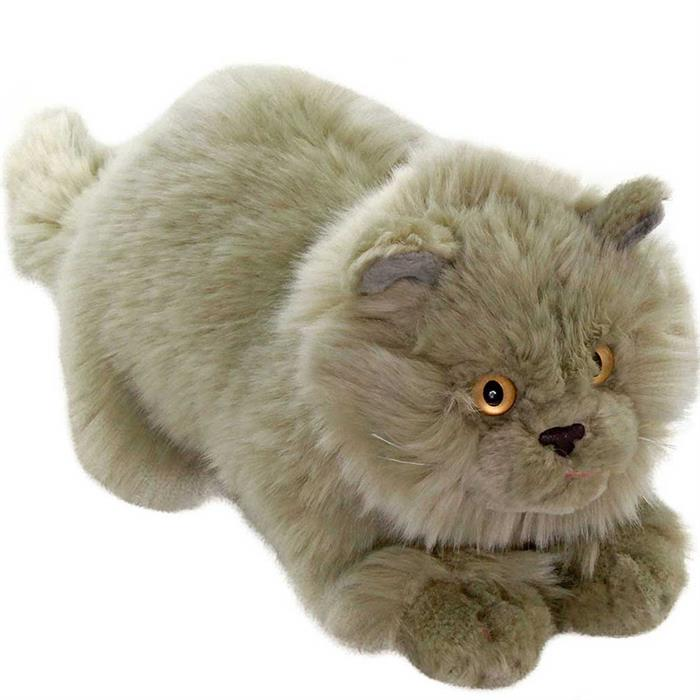 Animals Of The World Yatan Gri Kedi 26 cm Peluş Oyuncak 020881