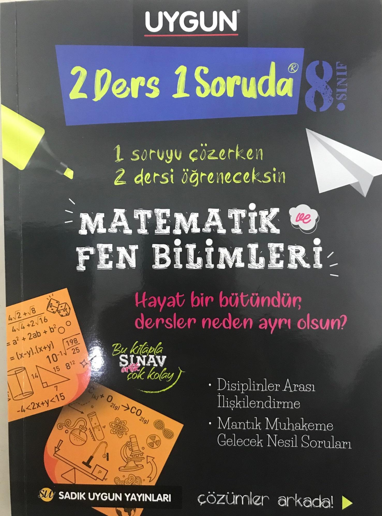 8.Sınıf 2 Ders 1 Soruda Matematik Ve Fen Bilimleri 8. Sınıf Sadık Uygun Yayınları
