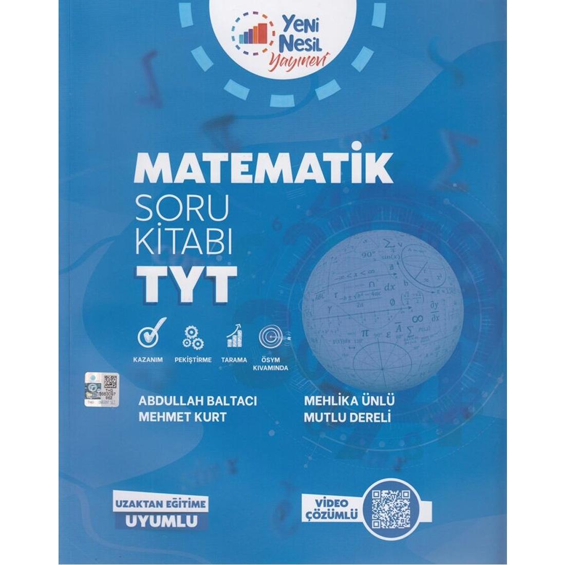 Tyt Matematik Soru Kitabı Video Çözümlü Yeni Nesil Yayıncılık