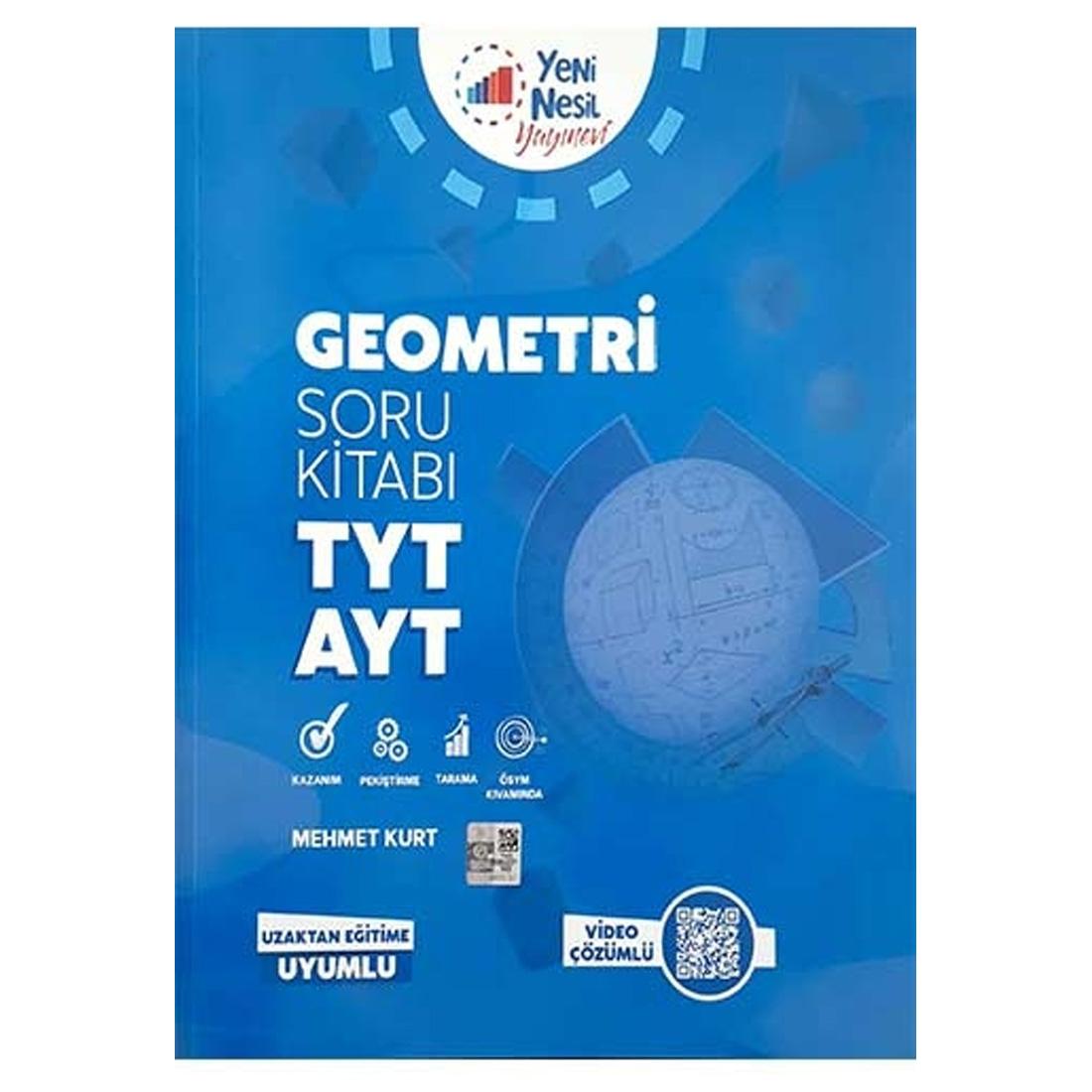 Tyt-Ayt Geometri Soru Kitabı Video Çözümlü Yeni Nesil Yayıncılık
