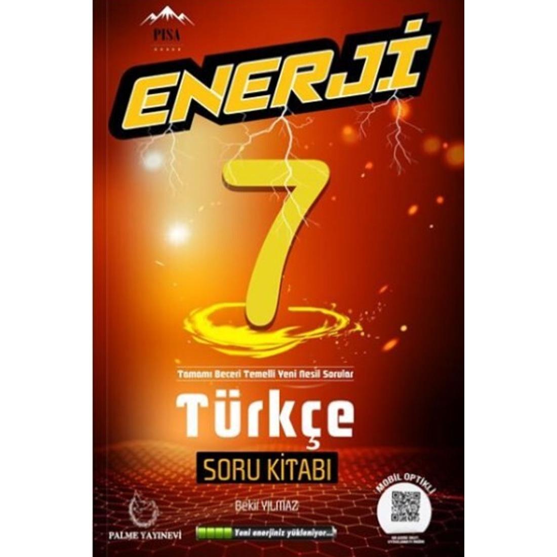 7.Sınıf Enerji Türkçe Soru Kitabı Palme Yayınevi